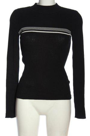 Review T-shirts en mailles tricotées noir motif rayé style décontracté