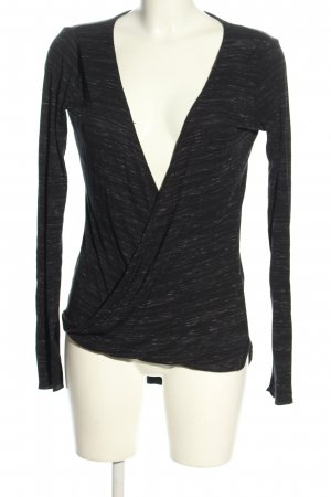 Review Knitted Wrap Cardigan black-white flecked casual look