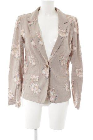 Review Sweatblazer grau-rosé Blumenmuster schlichter Stil