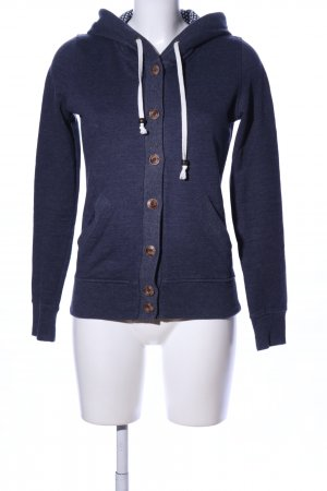 Review Sweatjacke blau meliert Casual-Look