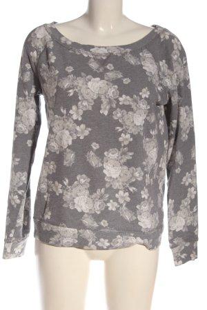 Review Sweatshirt hellgrau Blumenmuster Casual-Look