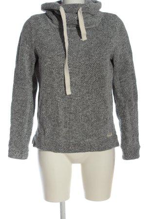 Review Sweatshirt noir-blanc moucheté style décontracté