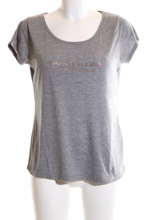 Review T-Shirt hellgrau-goldfarben meliert Casual-Look