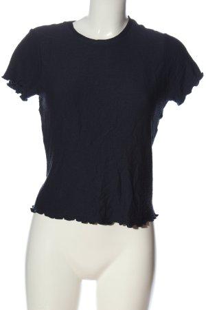 Review T-shirt blu motivo a quadri stile casual