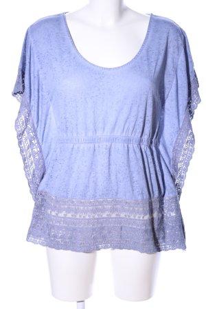 Review T-Shirt blau meliert Casual-Look
