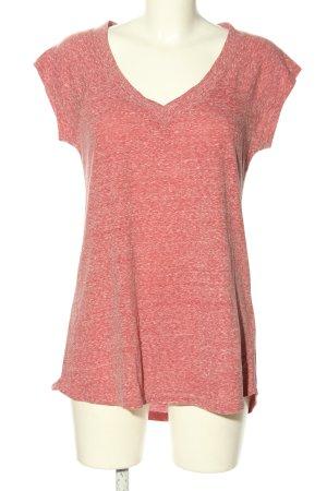 Review T-shirt rouge moucheté style décontracté