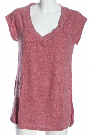Review V-Ausschnitt-Shirt pink meliert Casual-Look