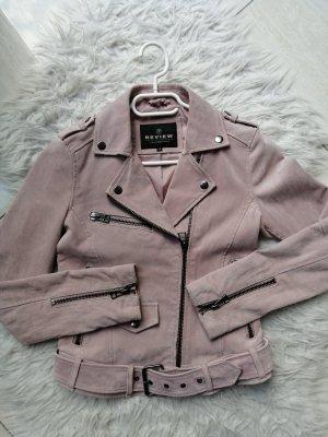 Review Wild Lederjacke in rosa