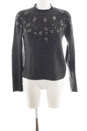 Review Wollpullover hellgrau meliert Casual-Look