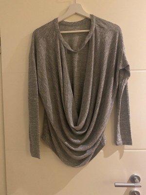 bobi Fine Knit Jumper silver-colored