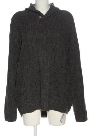 Reward Warkoczowy sweter jasnoszary Melanżowy W stylu casual