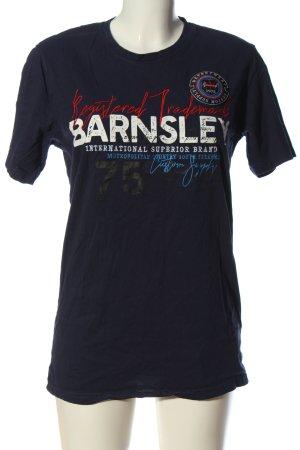 Reward T-Shirt blau Schriftzug gedruckt Casual-Look