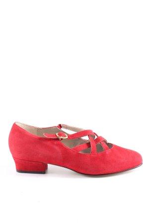 Rheinberger Strappy Ballerinas red elegant