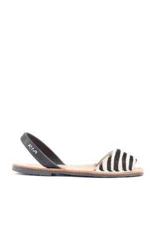 Ria Menorca Comfortabele sandalen zwart-wit dierenprint casual uitstraling