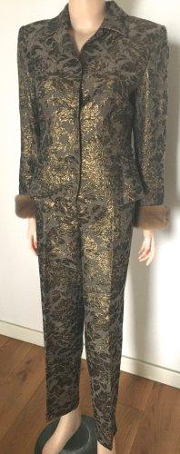 Riani Trouser Suit gold-colored-khaki mixture fibre