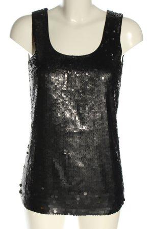 Riani Blusentop schwarz-silberfarben Elegant