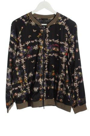 Riani Bomber Jacket black flower pattern casual look