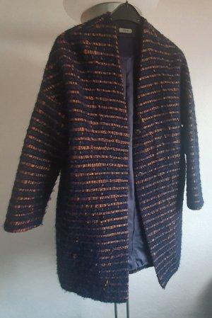 Riani Abrigo ancho color bronce-azul oscuro