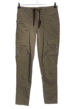 Riani Cargo Pants brown mixture fibre