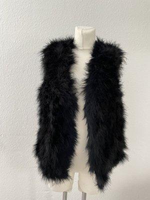 Riani Smanicato di pelliccia nero
