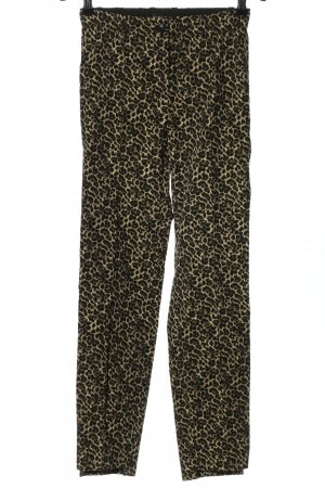 Riani High Waist Trousers black-gold-colored allover print extravagant style