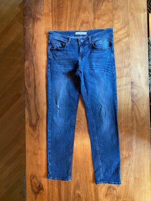 Riani Jeans boyfriend bleu coton
