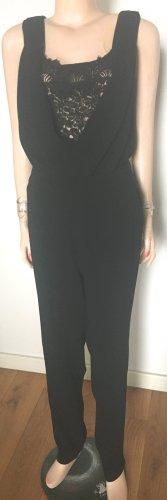 Riani Jumpsuit schwarz Spitze Größe 40