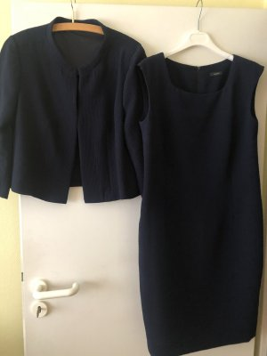 Riani Kostüm dunkelblau Kleid Blazer