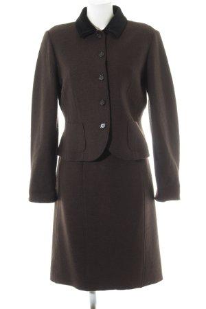 Riani Traje para mujer marrón oscuro-negro estilo «business»