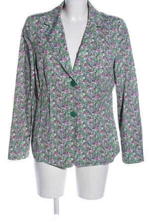 Riani Korte blazer groen-roze bloemenprint casual uitstraling