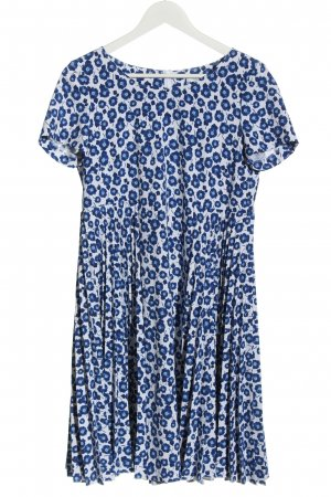 Riani Shortsleeve Dress white-blue allover print casual look