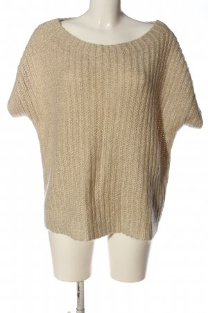 Riani Maglione a maniche corte bianco sporco stile casual