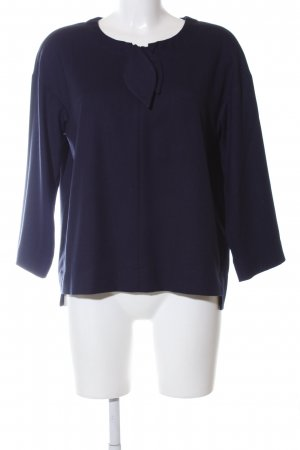 Riani Langarm-Bluse blau Business-Look