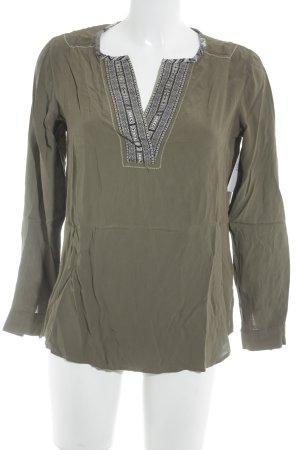 Riani Langarm-Bluse olivgrün Mustermix Casual-Look