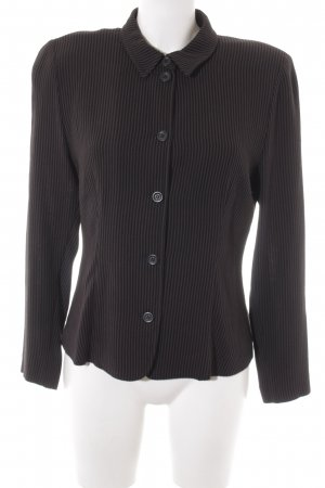 Riani Langarmhemd schwarz-dunkelbraun Streifenmuster Plastikelemente