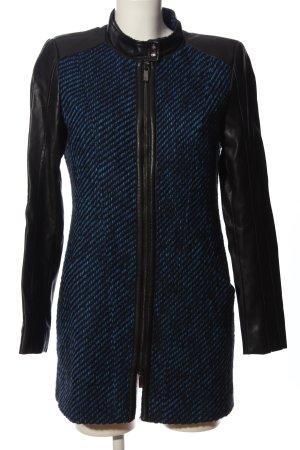 Riani Giacca lunga blu-nero puntinato stile casual