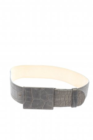 Riani Leather Belt light grey animal pattern casual look
