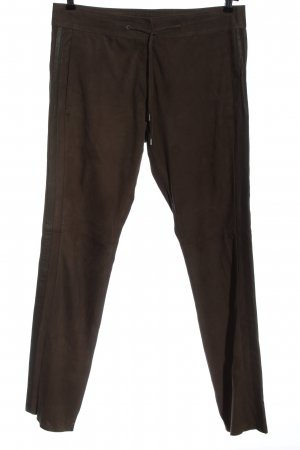Riani Leather Trousers brown casual look