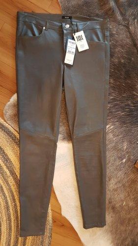 Riani Pantalón de cuero gris