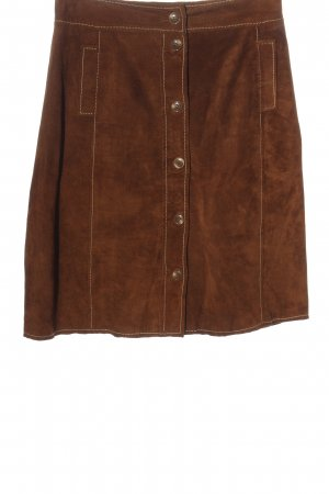 Riani Leather Skirt brown casual look