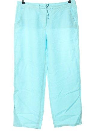 Riani Pantalon en lin bleu style décontracté