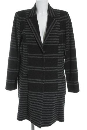 Riani Long-Blazer schwarz-dunkelgrau Streifenmuster klassischer Stil