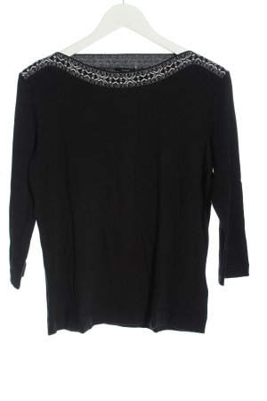 Riani Longsleeve black-white allover print casual look