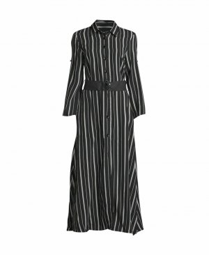 Riani Maxi abito bianco-nero Viscosa