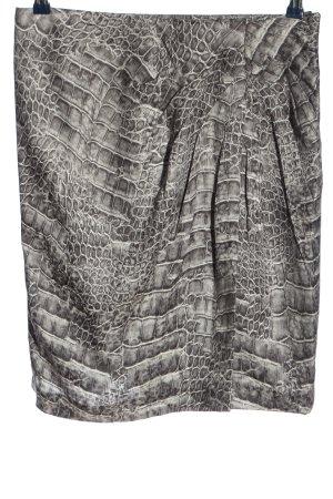 Riani Zijden rok lichtgrijs volledige print elegant