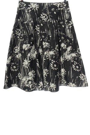 Riani Midi Skirt black-natural white allover print casual look