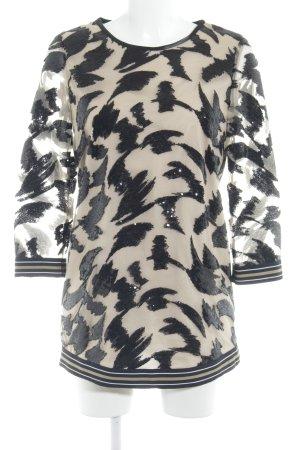 Riani Minikleid schwarz-nude abstrakter Druck extravaganter Stil