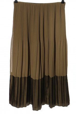 Riani Falda plisada marrón look casual
