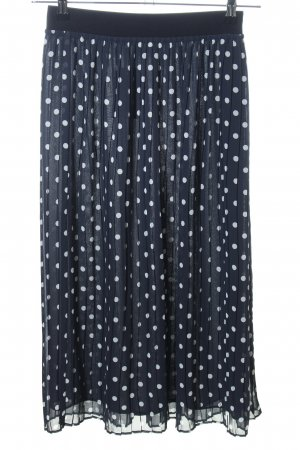 Riani Pleated Skirt blue-white spot pattern casual look