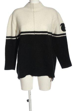 Riani Rollkragenpullover weiß-schwarz Casual-Look